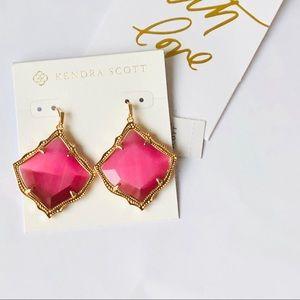 Kendra Scott Kristen Earrings in Pink Cat's Eye